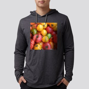 Colorful tomatoes macro food pho Mens Hooded Shirt
