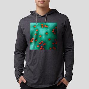Human papillomavirus particles,  Mens Hooded Shirt