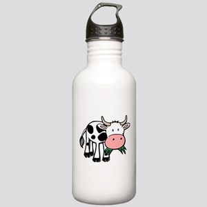 Black and White Steer Stainless Water Bottle 1.0L
