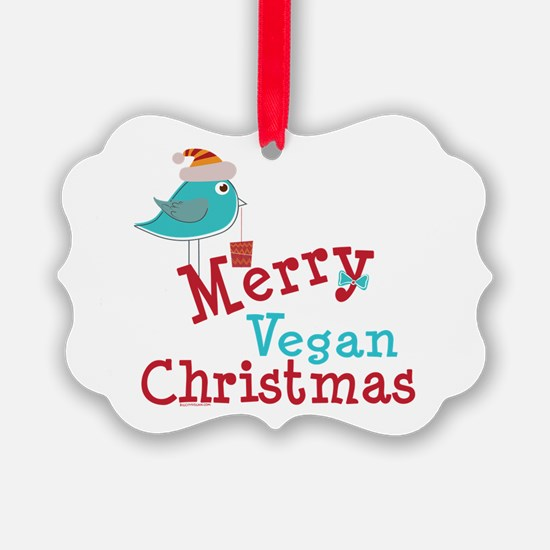 Merry Vegan Christmas Ornament