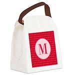 Fiery Formal Monogram Canvas Lunch Bag