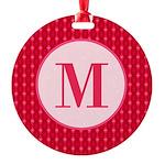 Fiery Formal Monogram Round Ornament