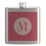 Fiery Formal Monogram Flask