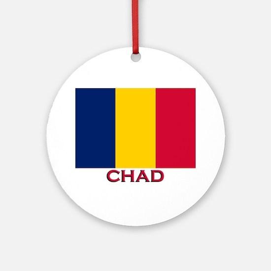 Chad Flag Stuff Ornament (Round)