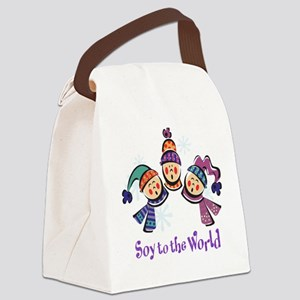 Soy to the World Canvas Lunch Bag