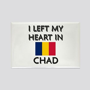 I Left My Heart In Chad Rectangle Magnet