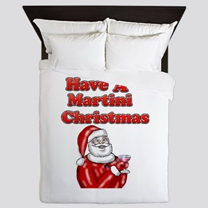 Have A Martini Christmas Queen Duvet