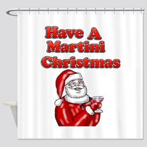 Have A Martini Christmas Shower Curtain