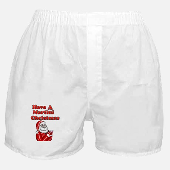 Have A Martini Christmas Boxer Shorts