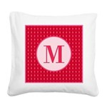 Fiery Formal Monogram Square Canvas Pillow