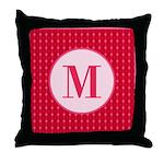 Fiery Formal Monogram Throw Pillow