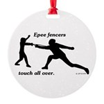 Epee Touch Round Ornament