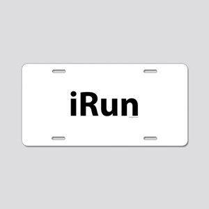 iRun Aluminum License Plate