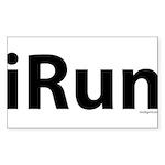iRun Sticker (Rectangle 50 pk)