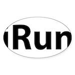 iRun Sticker (Oval 50 pk)