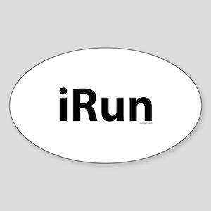 iRun Sticker (Oval)
