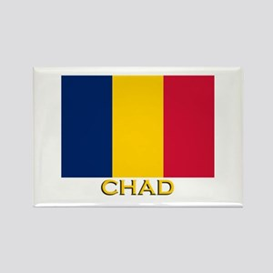 Chad Flag Gear Rectangle Magnet