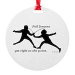 Foil Point Round Ornament