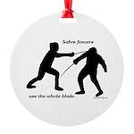 Sabre Blade Round Ornament