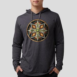 Native American Rosette 12 Mens Hooded Shirt
