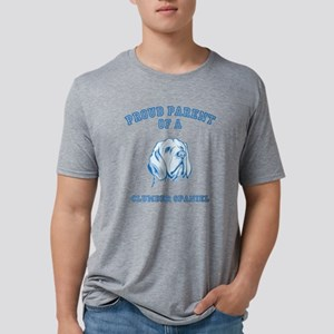 Clumber SpanielD Mens Tri-blend T-Shirt