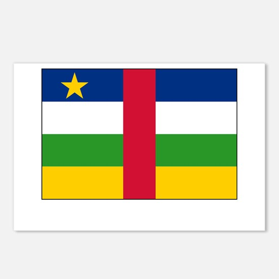 The Central African Republic Flag Picture Postcard