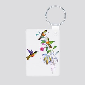 Hummingbirds Aluminum Photo Keychain