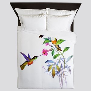 Hummingbirds Queen Duvet