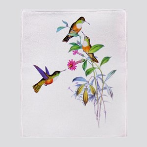 Hummingbirds Throw Blanket