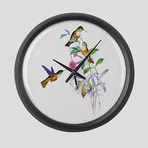 Hummingbirds Large Wall Clock
