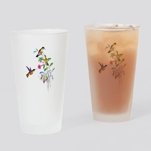 Hummingbirds Drinking Glass