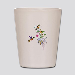 Hummingbirds Shot Glass