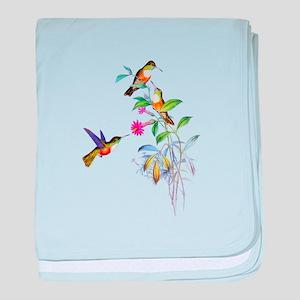 Hummingbirds baby blanket