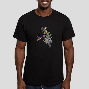 Hummingbirds Men's Fitted T-Shirt (dark)