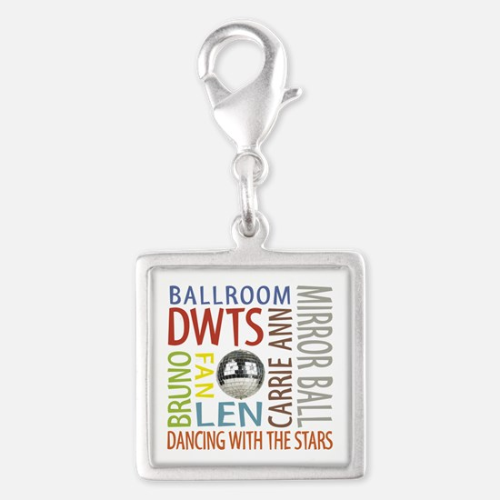 DWTS Silver Square Charm