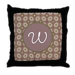 Prairie Paisley Monogram Throw Pillow
