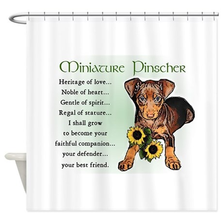 Miniature Pinscher Shower Curtain