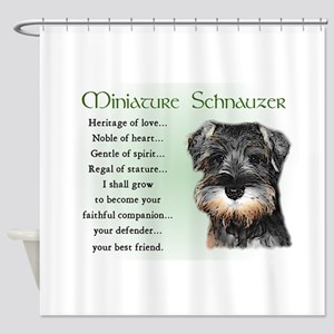 Miniature Schnauzer Shower Curtain