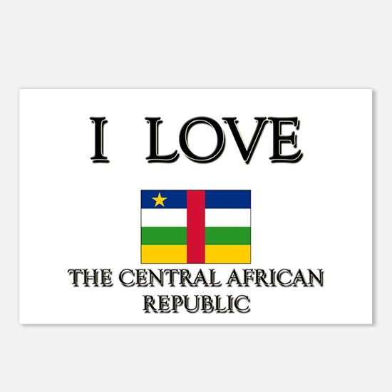 I Love The Central African Republic Postcards (Pac