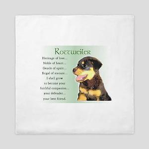 Rottweiler Puppy Queen Duvet