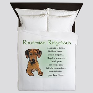Rhodesian Ridgeback Queen Duvet