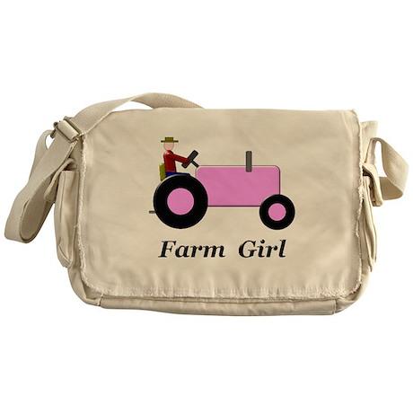 Farm Girl Pink Tractor Messenger Bag