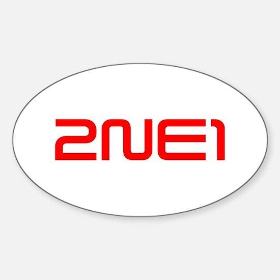 2NE1 logo 3000-500 Sticker (Oval)