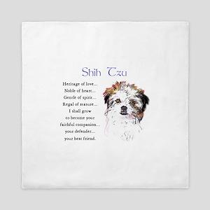 Shih Tzu Puppy Queen Duvet