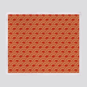 Red Waves Throw Blanket