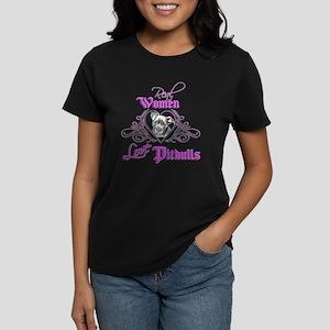 Real Women Love Pitbulls Women's Dark T-Shirt