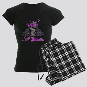 Real Women Love Pitbulls Women's Dark Pajamas