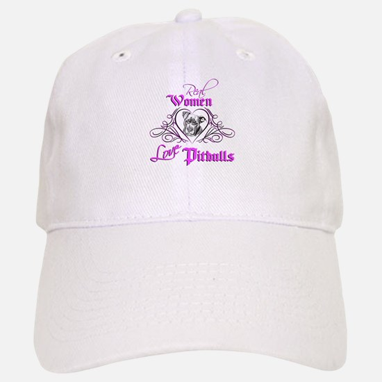 Real Women Love Pitbulls Baseball Baseball Cap
