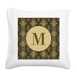Olive Yeux Monogram Square Canvas Pillow