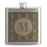 Olive Yeux Monogram Flask